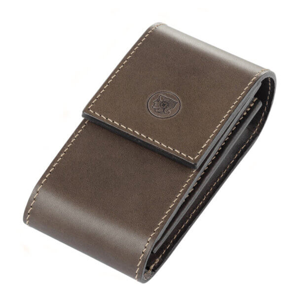 Leather Razor Case with Magnetic Clasp