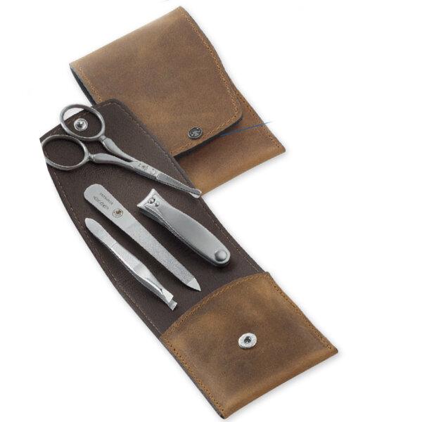 cowhide case manicure Set