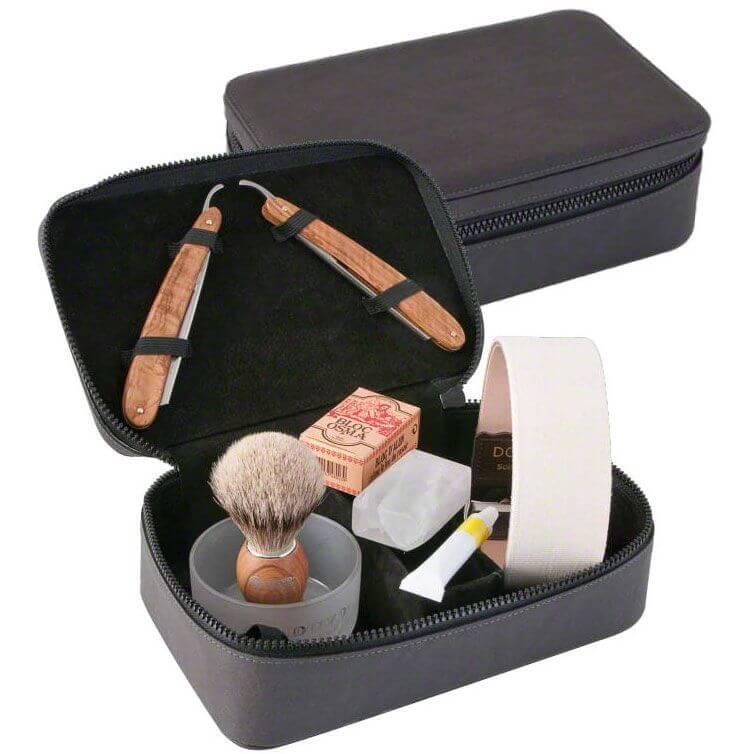 DOVO Straight Razors Travel Shave Set